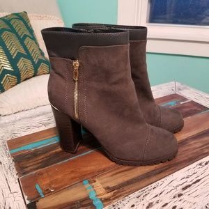 Juicy Couture Gray and Black Fall Boots